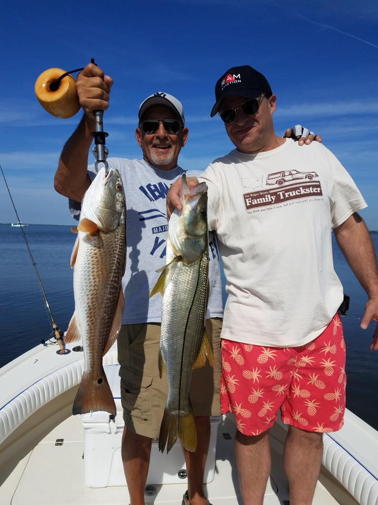 Jon & Mike On a Tampa Clearwater Fishing trip with guide Capt.Jared
