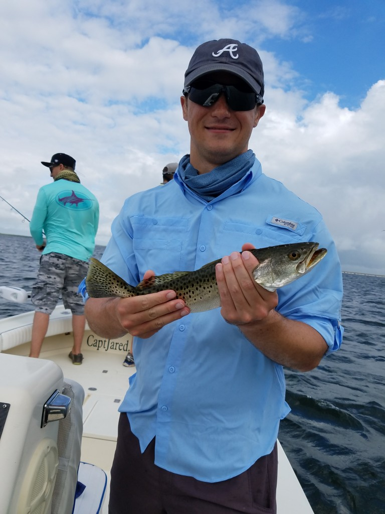 Trout on Tampa Bay Fishing Charter out of Sand Pearl Clearwater Beach