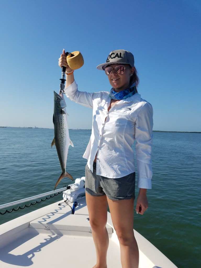 Spanish Mackerel fishing near clearwater beach florida with fishing charter
