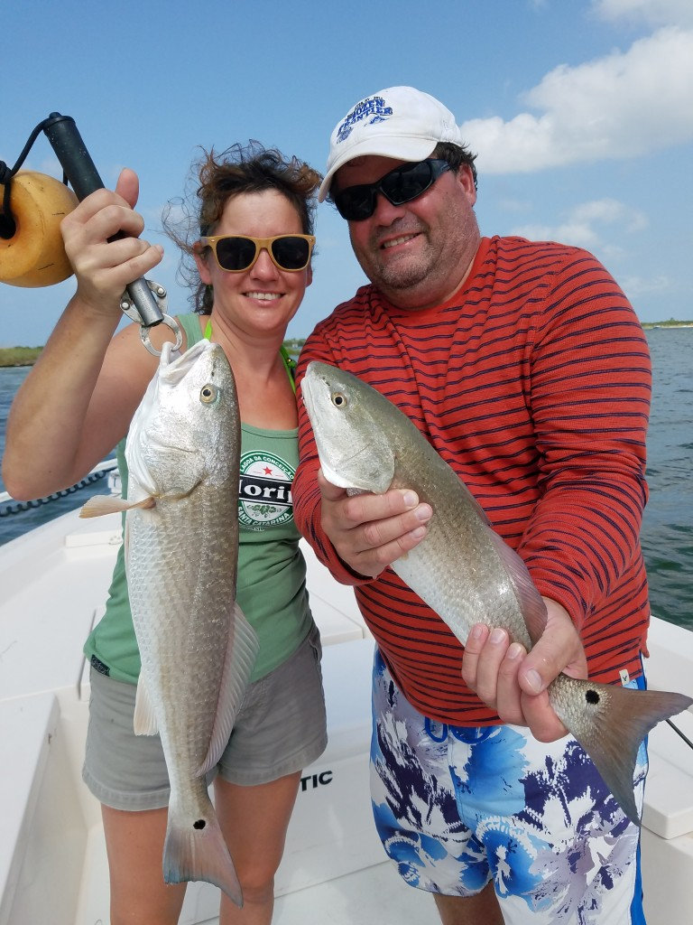 Redfish charter fishing trip clearwater beach
