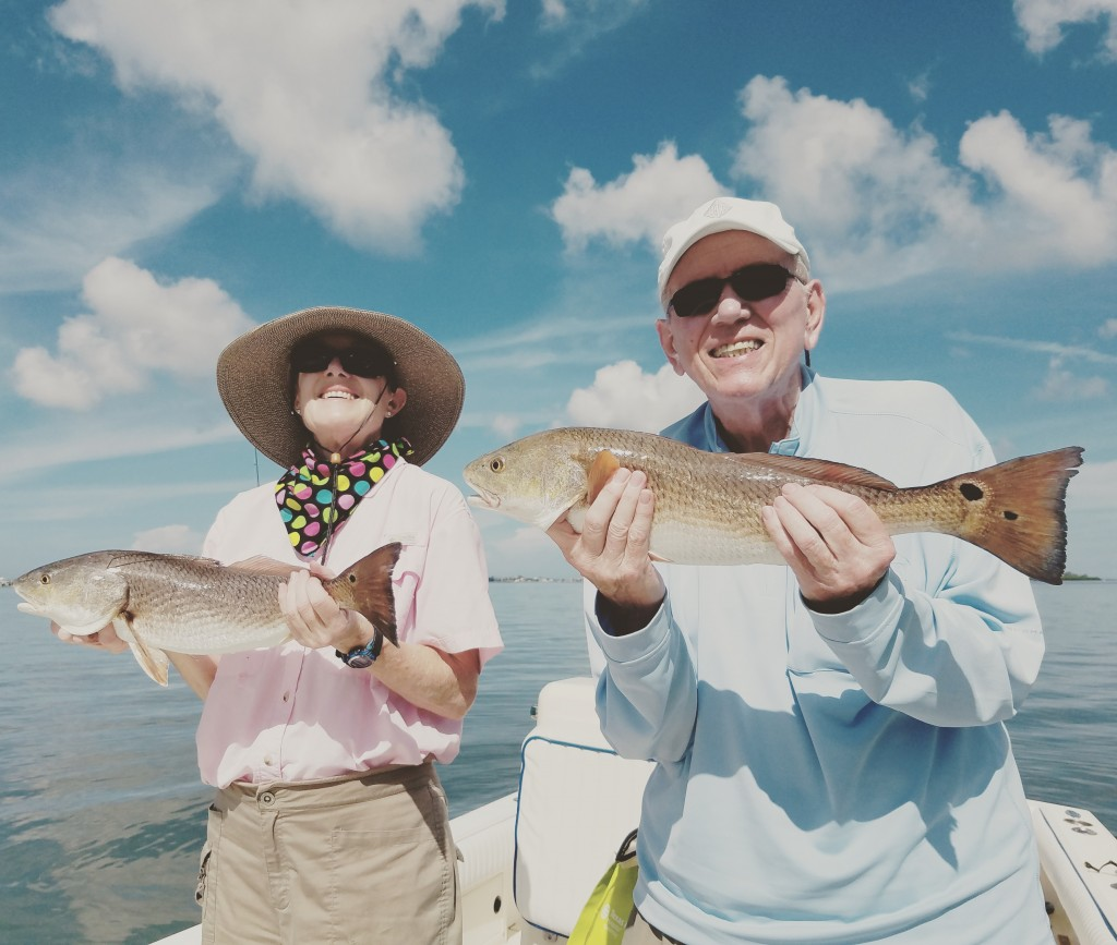 St.Pete beach fishing charter redfish with Rudy & Darwin