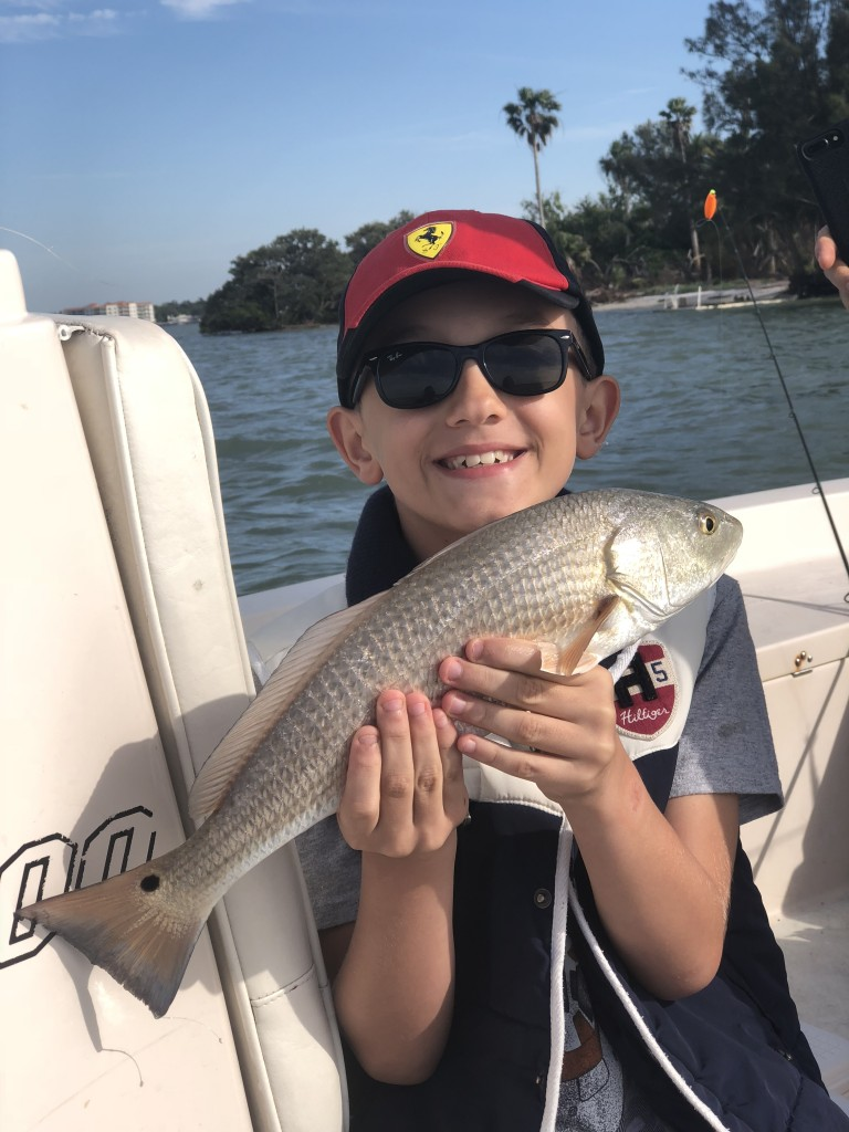 Redfish caught while on dunedin fishing charter