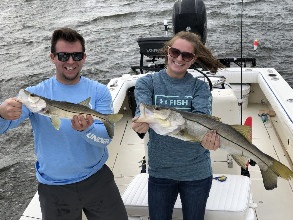 Jenna and Will Snook Fishing charter Safety harbor