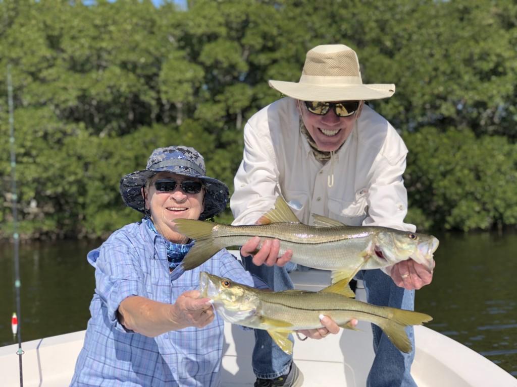 Robert and Carrol Snook fishing charter St.pete beach
