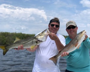 Double Snook Redfish Dunedin Fishing charter