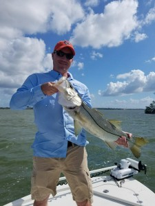 Andy with Snook caught with Capt Mike cole