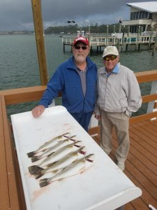 Trout for dinner Hog Island Dunedin florida fishing guide